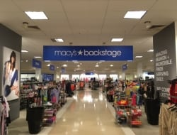 Brightbox can help with interior signs as well like these for the new Macys Backstage
