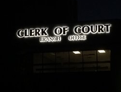 Channel letter retro fit for our local Clerk of Court