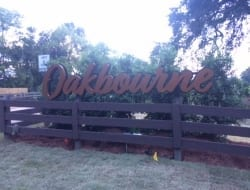 Custom Reverse lit entrace sign for the new Oakbourne development
