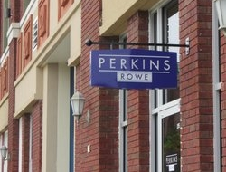 Custom blade sign built and installed by Brightbox for our friends at Perkins Rowe
