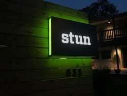 Custom-road-sign-built-and-installed-for-our-friends-at-Stun-Design