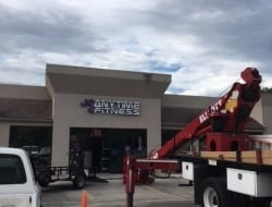 Installing the new Anytime Fitness sign in Scott LA