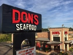 Lots of new signage for the newly remodeled Dons Seafood in Lafayette
