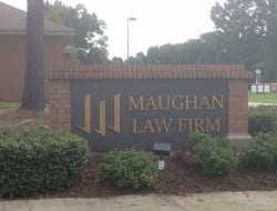Manufactured new acrylic lettering for Maughan Law Firm