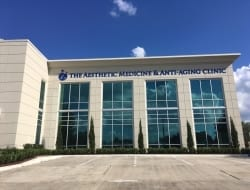New exterior acylic lettering for The Aesthetic Medicine  Anti-Aging Clinics of Louisiana