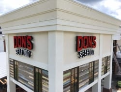 New fabricated Channel Letters for Dons Seafood in Covington